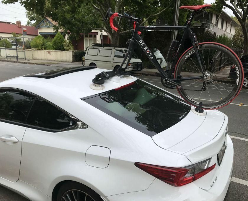 Lexus RCF Bike Rack - The SeaSucker Mini Bomber