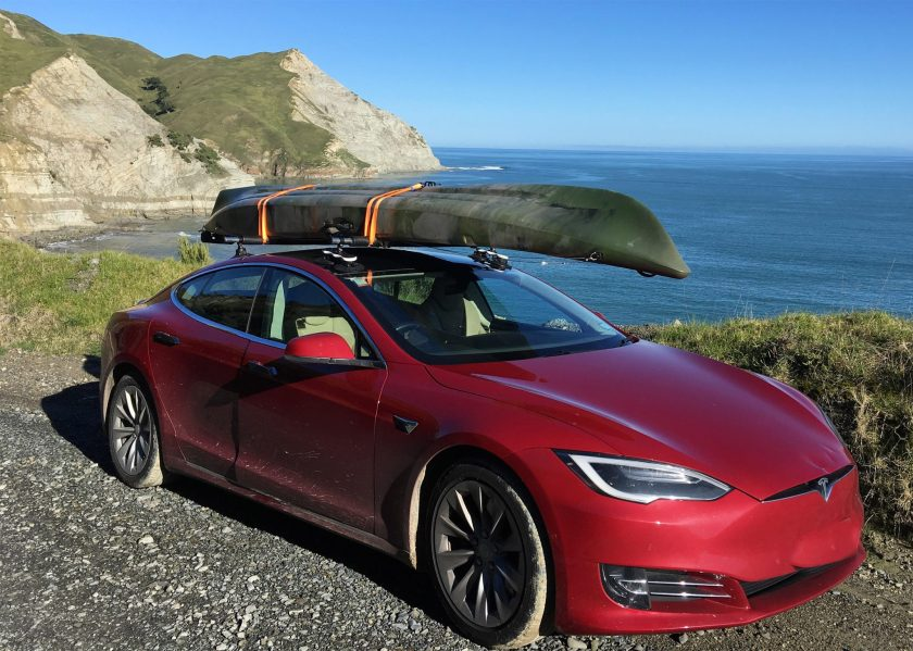 Tesla Model S Roof - The SeaSucker Monkey Bars
