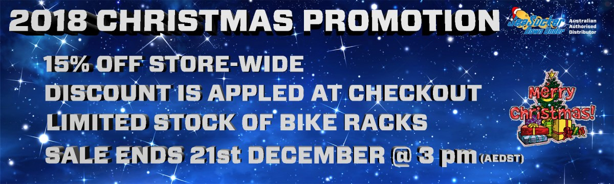 2018 Christmas Promotion 15% off all products Store-Wide