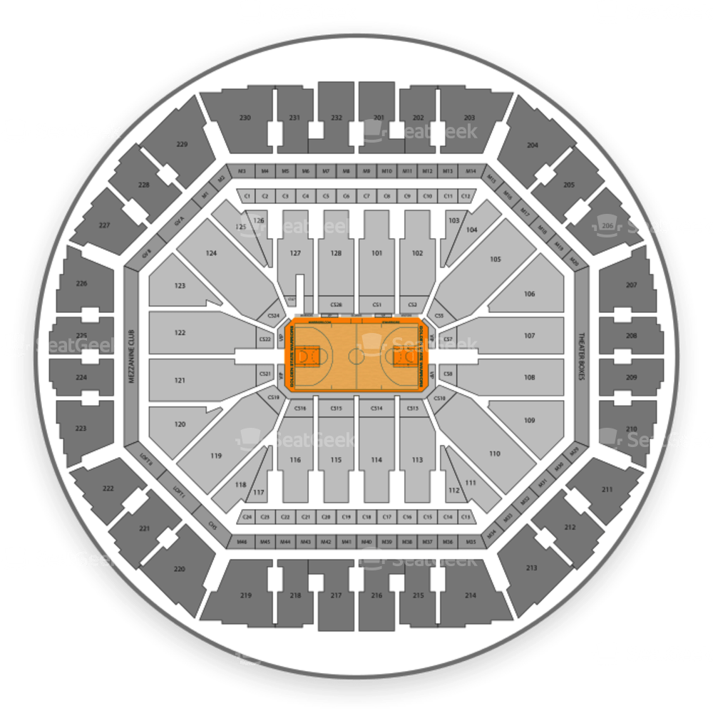 Oracle Arena Seating Chart Concert Wallseatco