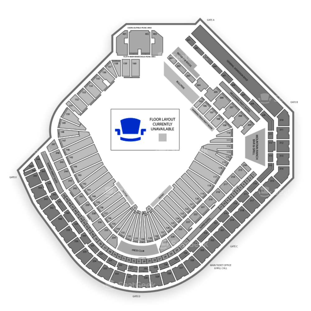 Coors Field Seating Map Wallseatco