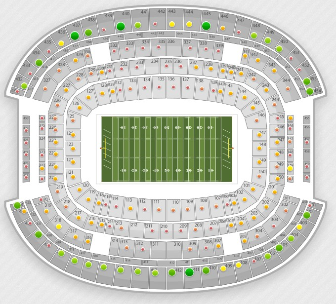 Atampt Stadium Virtual Seating Chart