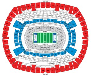 MetLife Stadium, E Rutherford NJ  Seating Chart View