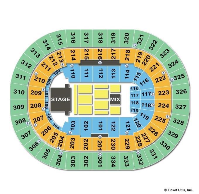 Portland Trail Blazers Center: Moda Center Blazer Seating Chart