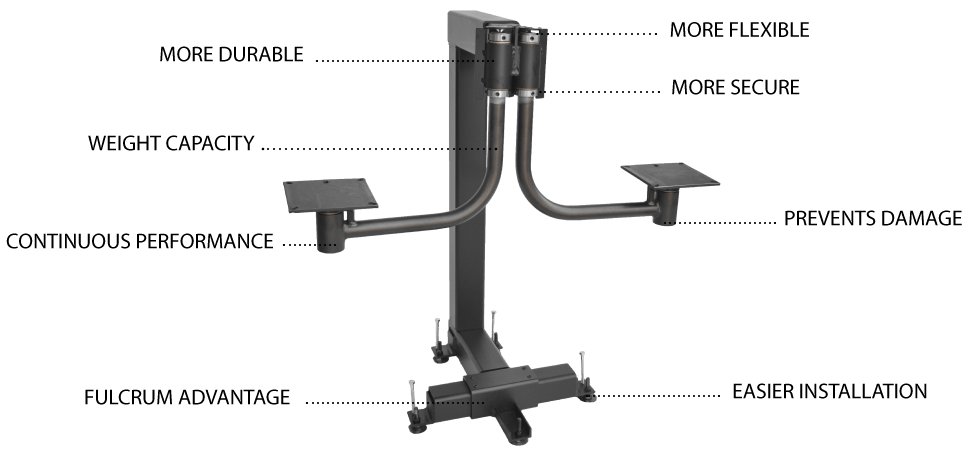 suspended bar stools system