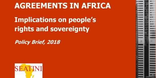 International Investment Agreements in Africa: Implications on People