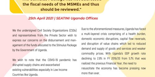 CIVIL SOCIETY STATEMENT ON THE MANAGEMENT OF THE STIMULUS PACKAGE BY THE RELEVANT INSTITUTIONS