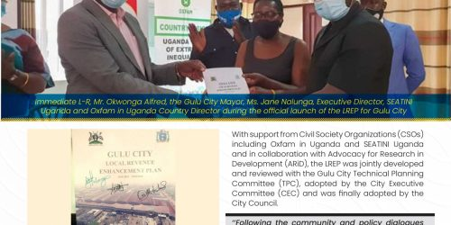 SEATINI Uganda and Oxfam in Uganda Join Gulu City Council to Launch the Local Revenue Enhancement Plan