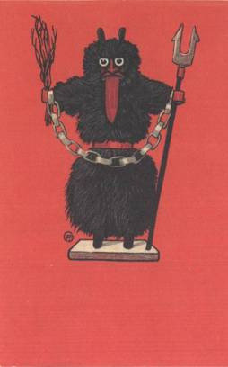 Krampus card with paper chain