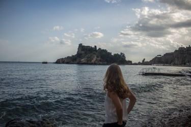 The beach near Taormina
