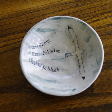 Small poetry bowl (slight second)