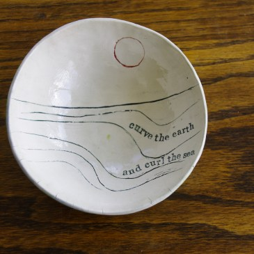 Poetry bowl (curve the earth) (second)