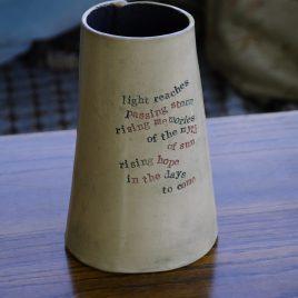 Medium poetry vase (light reaches)