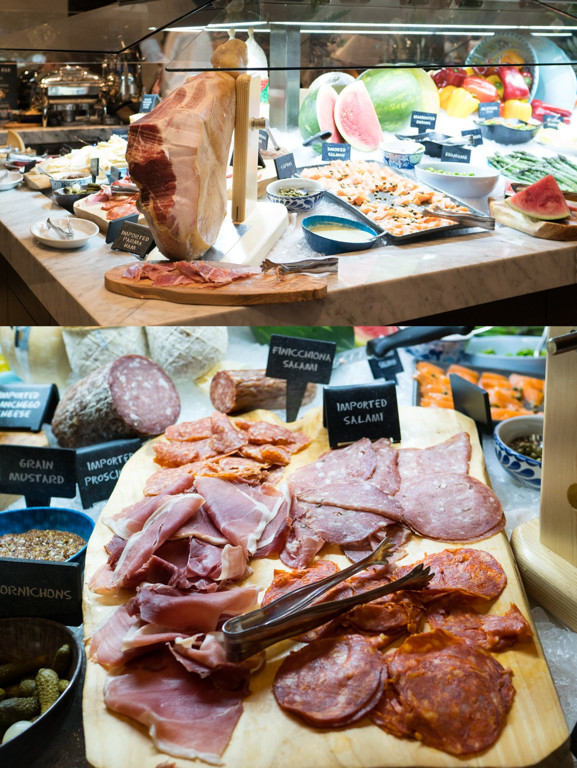 Fogo de Chao cured meats Market Table