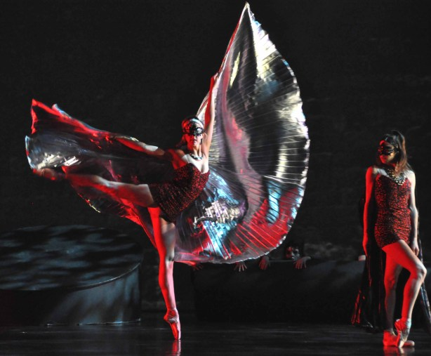 Ballet Bellevue dancers in Dante's Inferno Photo by Fred Burmer, Burmer Music LLC