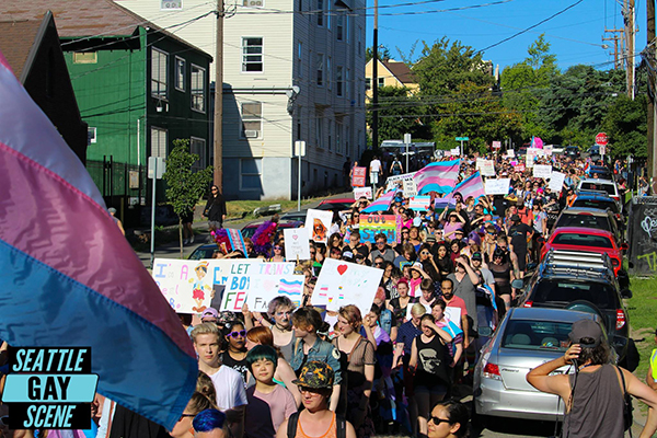 Photos: 2017 Seattle TransPride March | Seattle Gay Scene ...