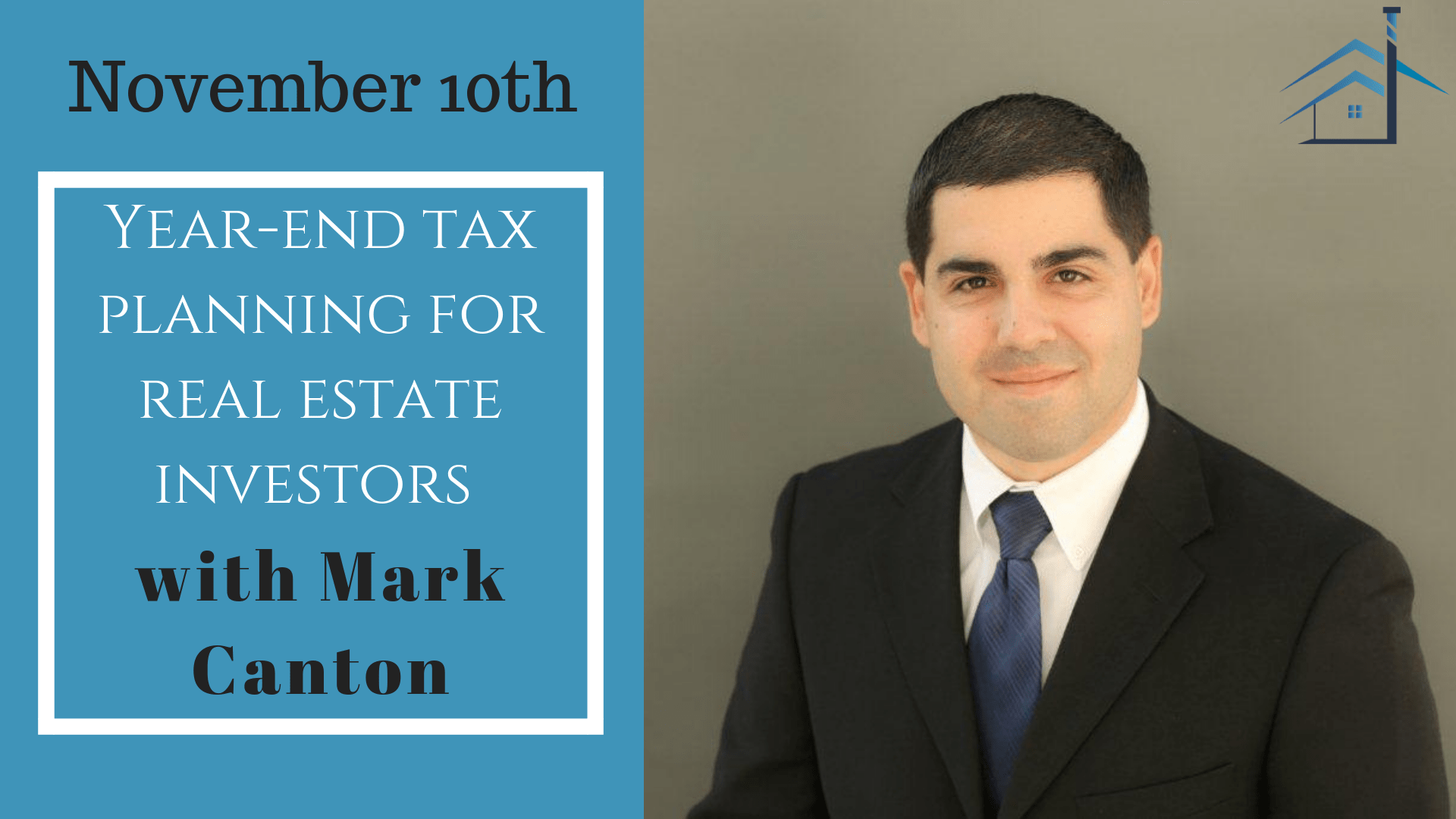 Year-end tax planning for real estate investors with Mark Canton at the Seattle Investors Club