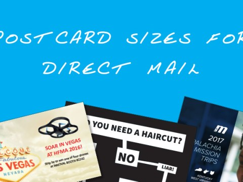 postcard sizes for direct mail