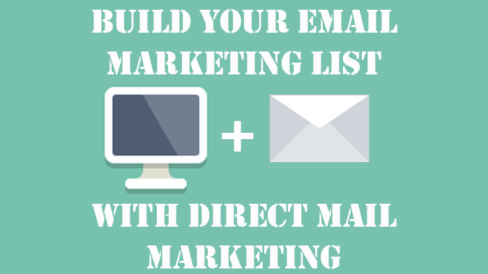 build email list with direct mail postcards
