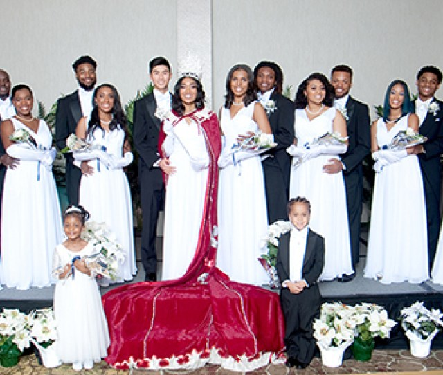 The  Washington Rhinestone Club Debutantes Escorts And Court L R Debutante Teriana Yeggins And Escort Jevaughn Banks Debutante Chloe Newton And