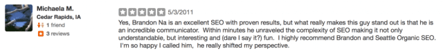 another review for seattle organic seo
