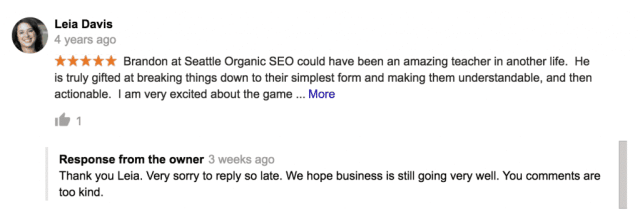 more reviews from google for seattle's top seo agency