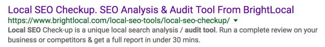 local seo auditing tool #1 result