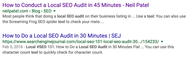 45 local seo audit post