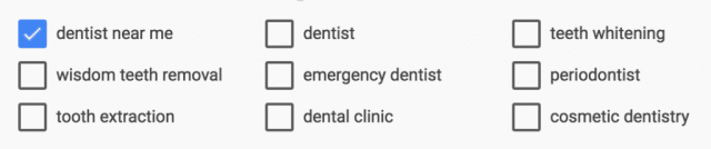dental searches in the eastside