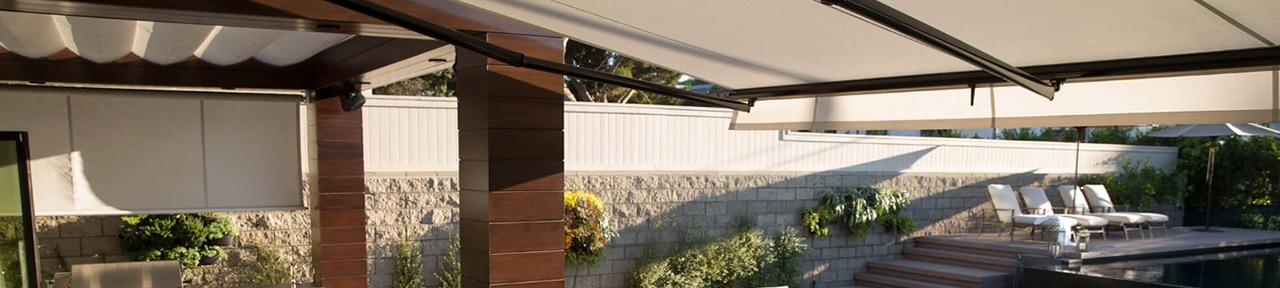 Retractable Awnings, solar powered awning