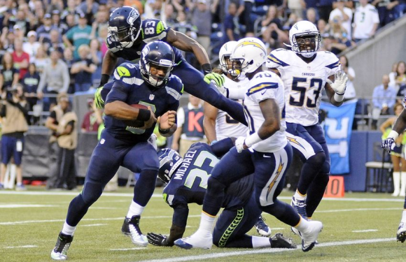 Seattle Seahawks – 16 San Diego Chargers – 15 : Steve Haushka kicks a 60 yarder to a one point win