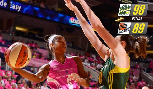 Seattle earns 1st win with new coach, Storm win 98-89 over Phoenix