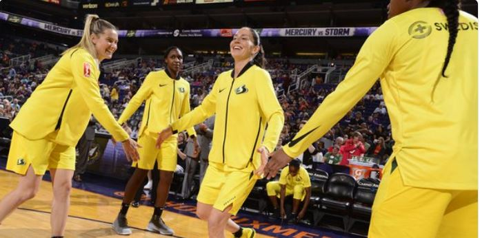 Seattle Storm power their way to a 89-76 victory over the Washington Mystics