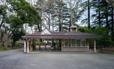 One of the entrances to Shinjuku Gyoen National Garden. Just to the right of the turnstiles you'll find the machines to purchase your tickets. (200yen/$1.60USD)