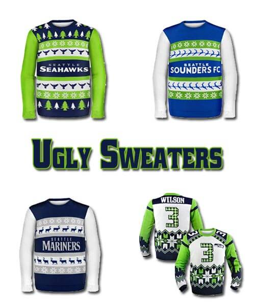 Seattle Seahawks - Mariners - Sounders Ugly Sweater