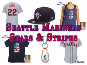 Mariners Stars and Stripes Fan Gear