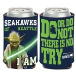 Seattle Seahawks NFL Star Wars Yoda Insulated Coozie Can Cooler