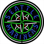 Seattle Mariners MLB Clear Backing Neon Sign