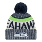 Youth Seattle Seahawks New Era Navy 2017 Sideline Official Sport Knit Hat