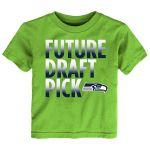 Preschool Seattle Seahawks Neon Green Future Draft Pick T-Shirt