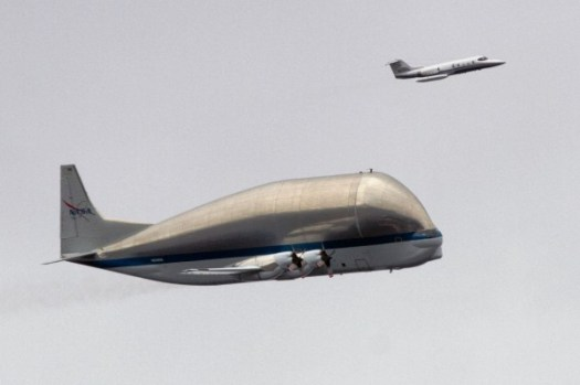 NASA Super Guppy photo by The Seattle Times