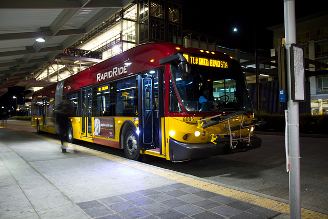 The First In-Service RapidRide, by Atomic Taco on Flickr