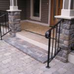 Custom Metal Railings on patio