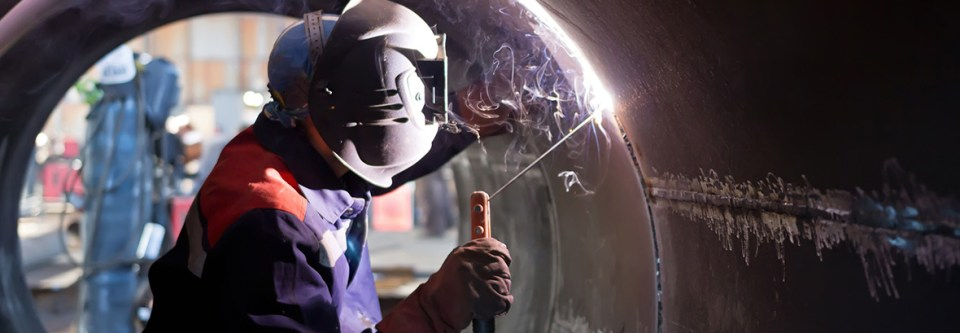 welding inside a pipeline