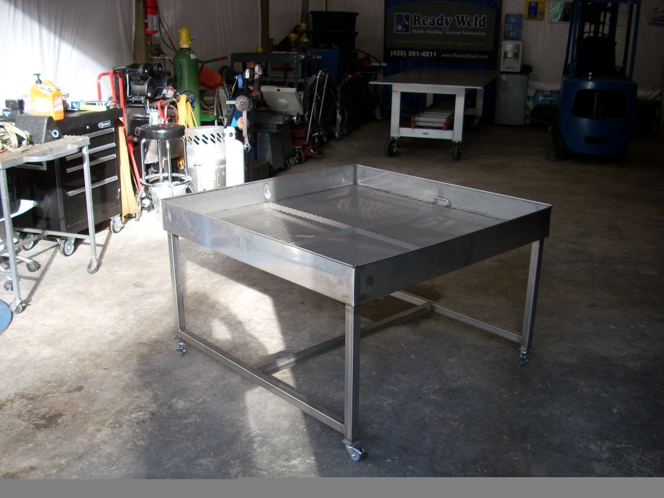 Metal Table Fabrication for custom contract