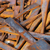 Old pieces of rusted metal