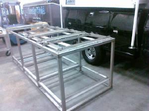 Custom-made steel framework