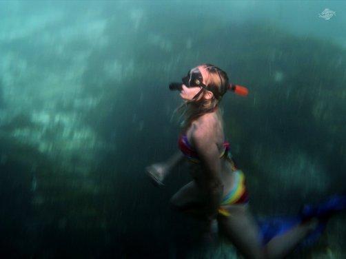 Renee Blundon in the Blue Lagoon on Mafia Island 1024 x 768