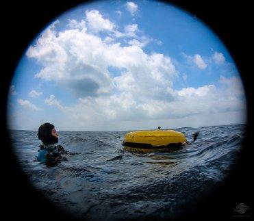 Hannah back on the surface.