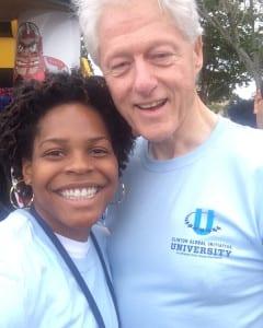cgiu lashyra bill clinton 240x300 - HHSC Major Lashyra Nolen Shares Experience from Clinton Global Initiative